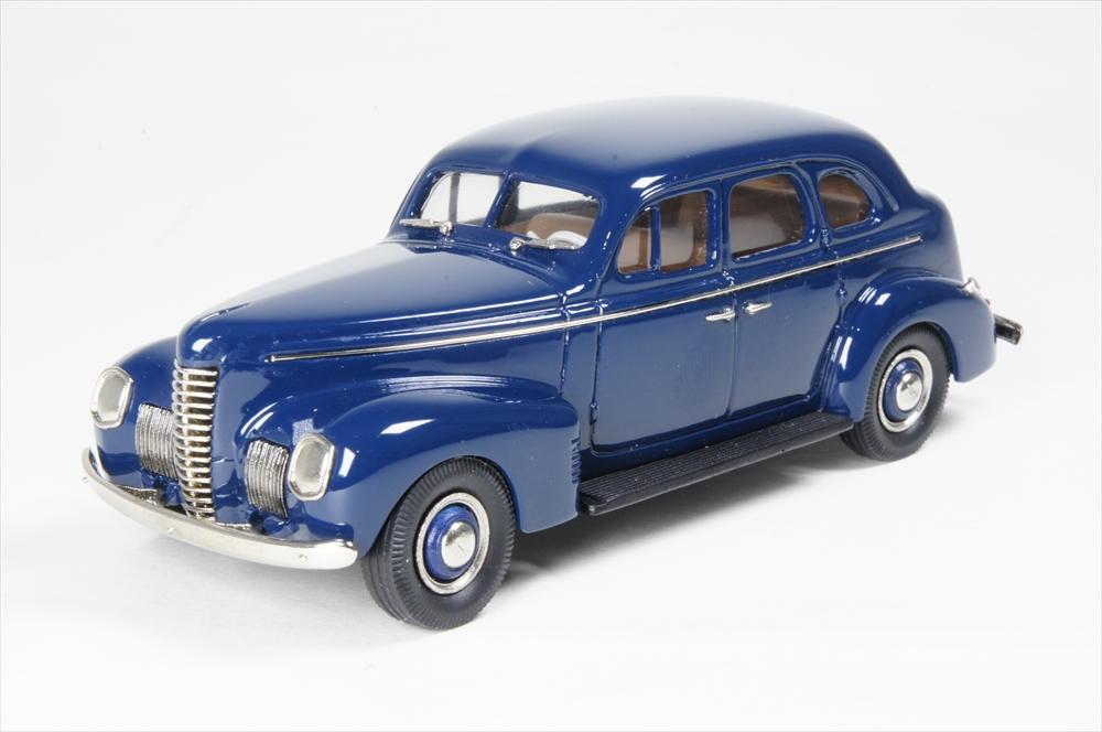 ミニカー ブルックリン (BML18) 1/43 ナッシュ アンバサダー エイト 4-dr セダン 1939 ダークブルー