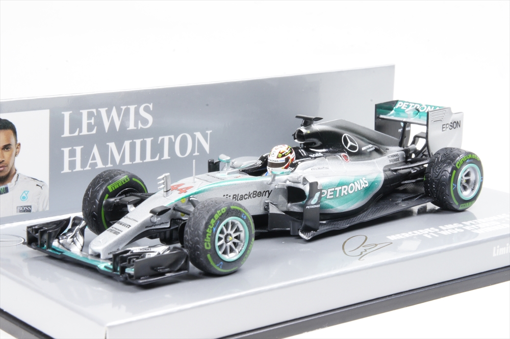 ミニカー 1/43 ミニチャンプス MINICHAMPS(410150444) メルセデスAMG ペトロナスF1チーム W06 ハイブリッド L.ハミルトンUSA GP 2015 ウィナー