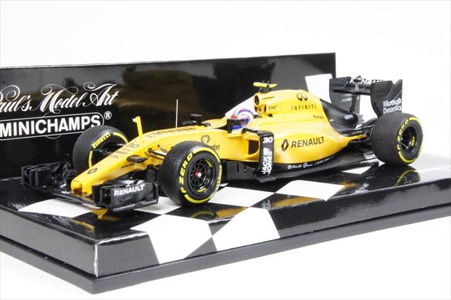 ミニカー ミニチャンプス (417160030) 1/43 ルノー スポーツF1チーム RS16 2016 J.パーマー