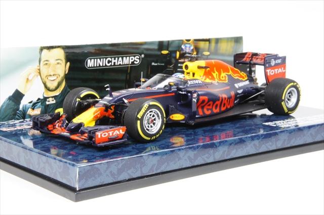 ミニカー ミニチャンプス (417160203) 1/43 レッド ブル レーシング タグホイヤー RB12 F1 ロシアGP 2016 D.リカルド フリープラクティス