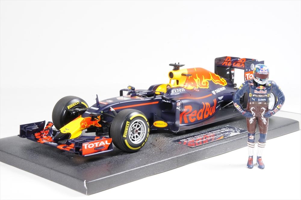 ミニカー ミニチャンプス (117160603) 1/18 レッド ブル レーシング タグホイヤー RB12 F1 オーストリアGP 2016 D.リカルドフィギュア付