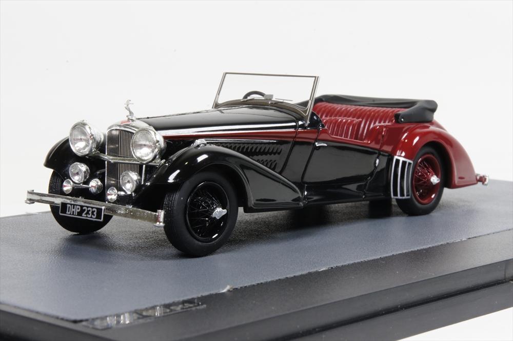 ミニカー マトリックス (MX10105-011) 1/43 アルヴィス 4.3L Vanden Plas ツアラーカブリオレ 1938 ブラック/レッド