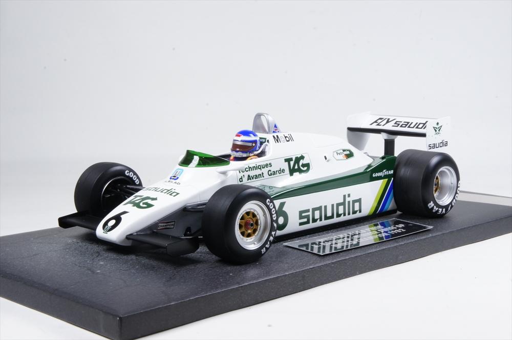 ミニチャンプス 1/18 ウィリアムズ フォード FW08 1982 F1 ワールドチャンピオン K.ロズベルグ 完成品ミニカー 117820006