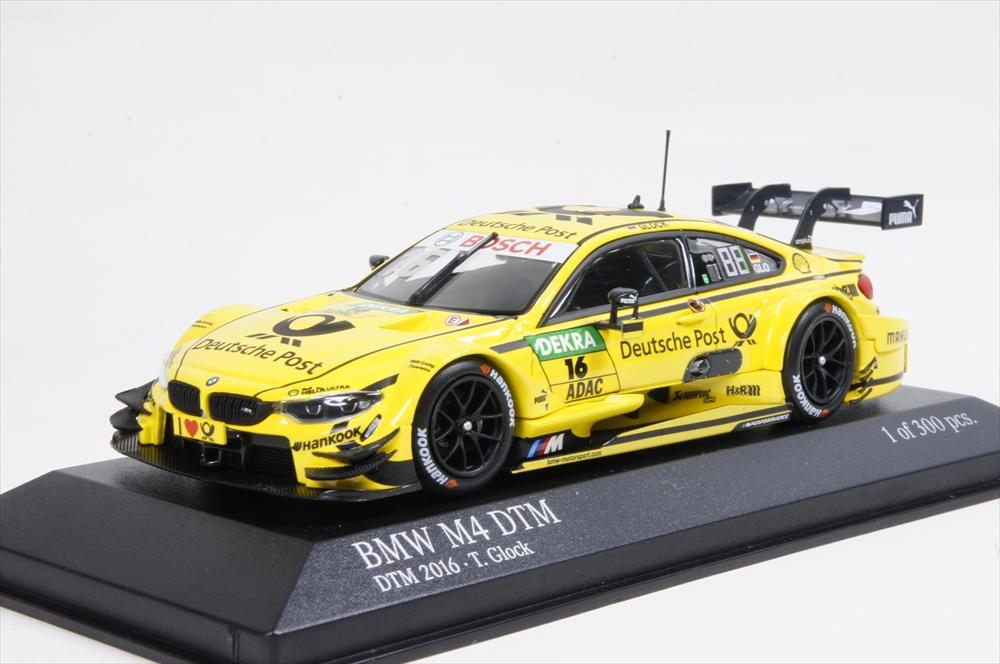 """ミニチャンプス 1/43 BMW M4 (F82) """"BMW TEAM RMG"""" DTM 2016 T.GLOCK 完成品ミニカー 410162416"""