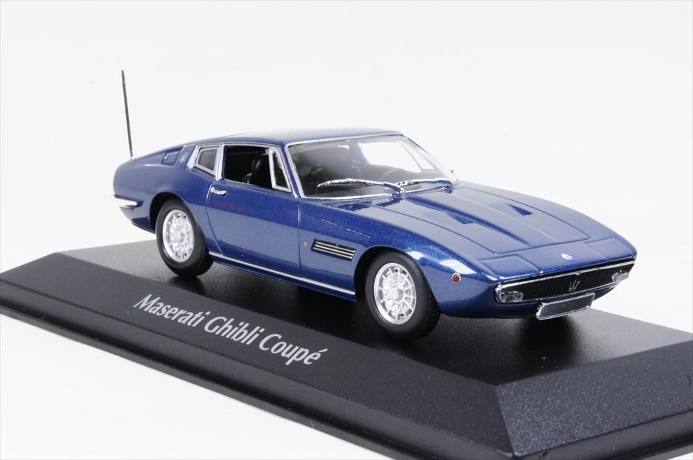 マキシチャンプ マセラッティ ギブリ クーペ 1969 ブルーメタリック 1/43 完成品ミニカー 940123321