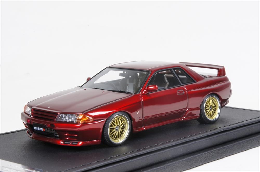 イグニッションモデル1/43 ニスモ R32 GT-R S-tune レッド 完成品ミニカー IG0924