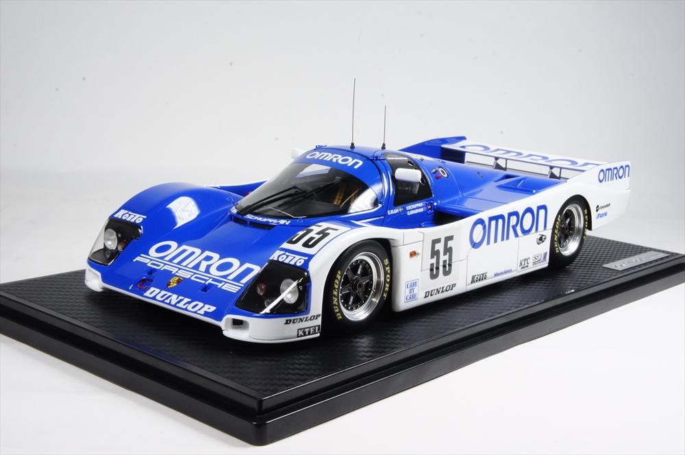 イグニッションモデル OMRON ポルシェ 962C No.55 1989 ル・マン24時間 1/18 完成品ミニカー IG1195