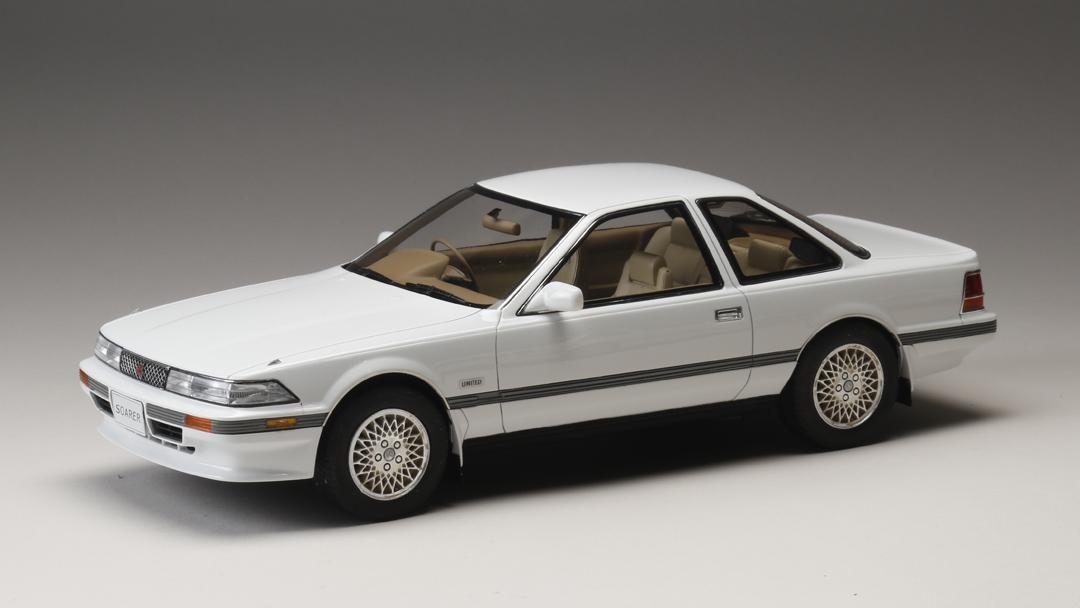 ホビージャパン トヨタ ソアラ 3.0GT リミテッド (MZ20) 1986 スーパーホワイト 1/18 完成品ミニカー HJ1801BW