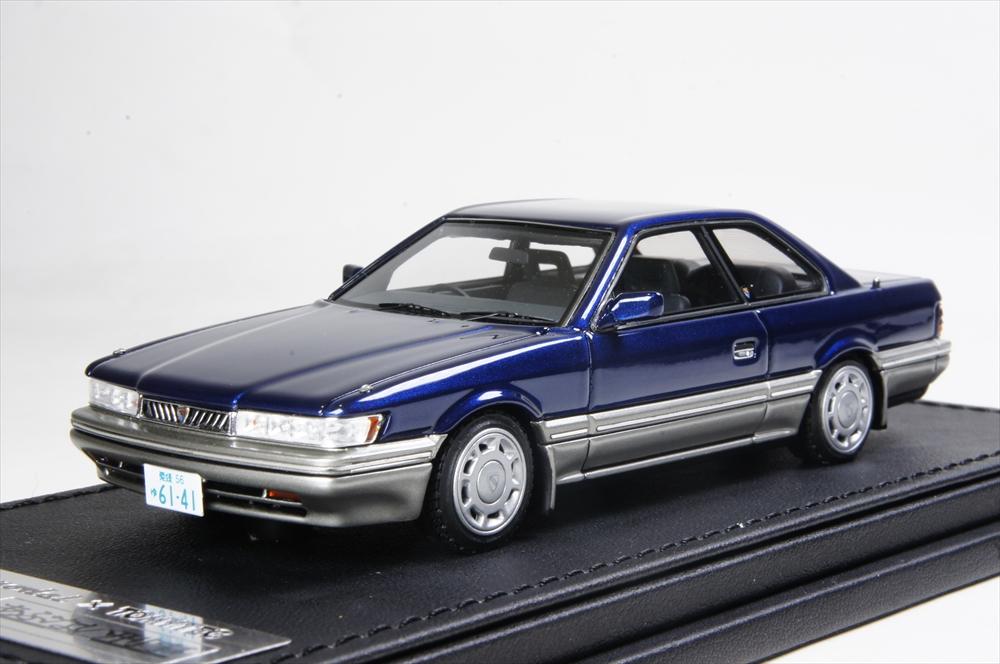 ignition model × TOMYTEC 1/43 日産 レパード XS-II 紺 「あぶない刑事」より 完成品ミニカー T-IG4305