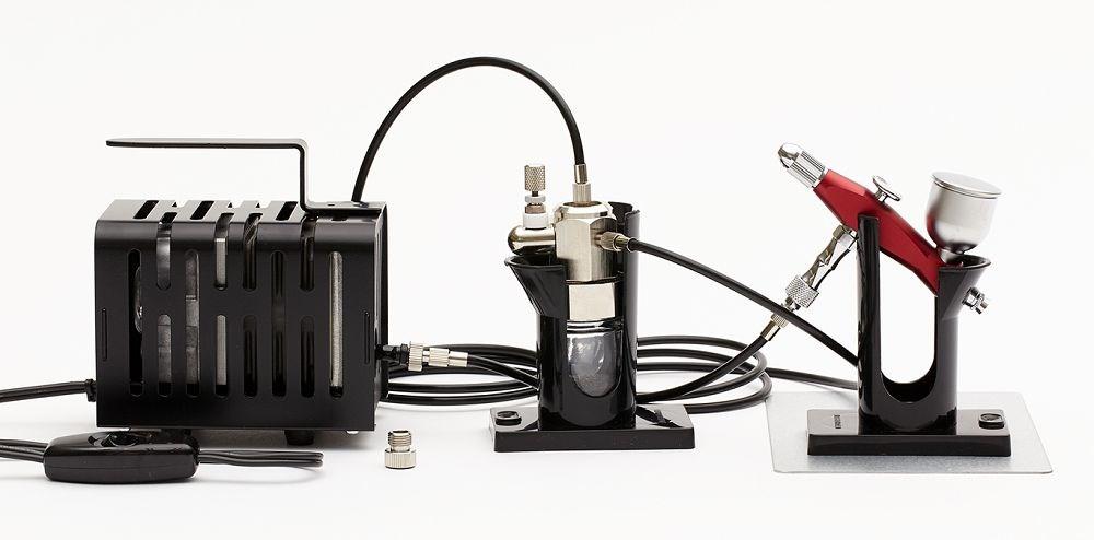 GSIクレオス Mr.リニアコンプレッサー クロプチ/プロコンBOY SQアルミ製軽量版(ワインレッド)セット 模型用グッズ PS-404R