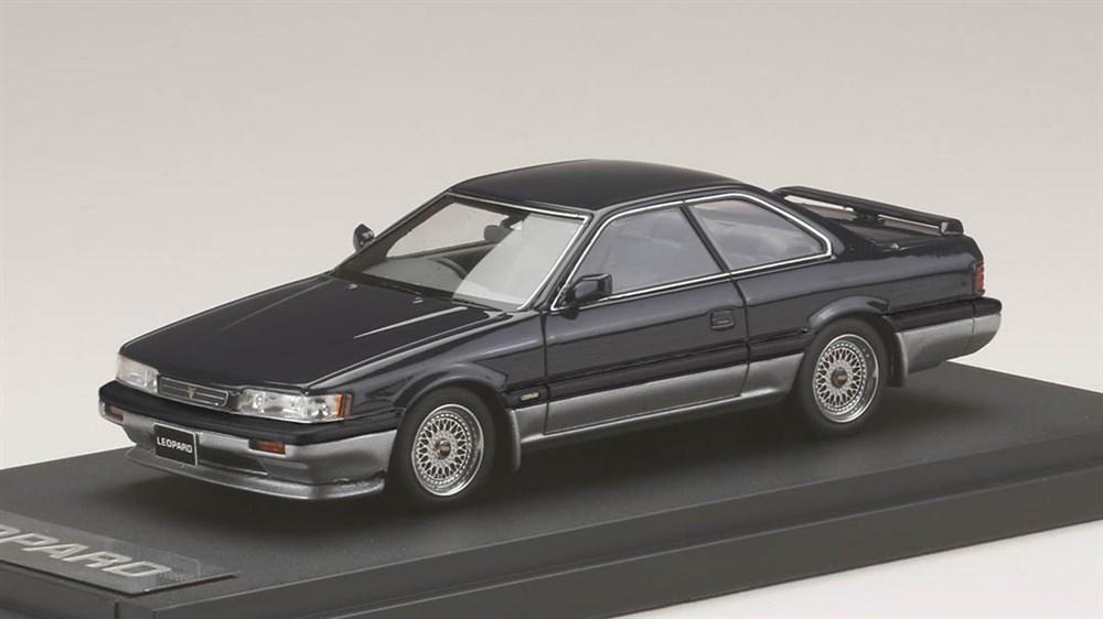 MARK43 1/43 ニッサン レパード アルティマ V30ツインカムターボ(1988) カスタムバージョン ダークブルーツートン 完成品ミニカー PM4373CBL