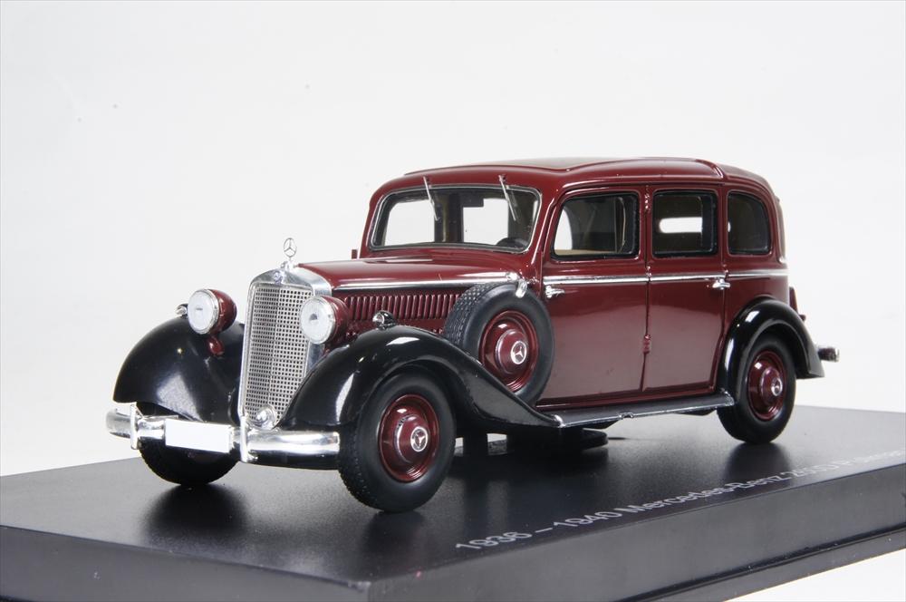 ミニカー 直輸入品 ESVAL MODELS (EMGEMB43001B) 1/43 1936-40 メルセデスベンツ 260D Pullman Landaulet マルーン / ルーフ タイプ: クローズ