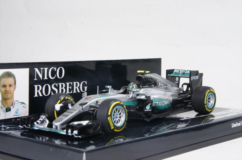 ミニチャンプス 1/43 メルセデス AMG ペトロナス W07 ハイブリッド 2016 F1 バーレーンGP ウイナー N.ロズベルグ 完成品ミニカー 410160106