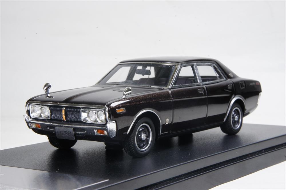 ハイストーリー 1/43 ニッサン ローレル セダン 2000SGX 1974 マルーンメタリック 完成品ミニカー HS182BR