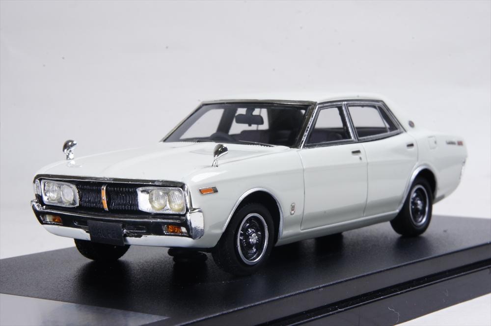 ハイストーリー 1/43 ニッサン ローレル セダン 2000SGX 1974 ホワイト 完成品ミニカー HS182WH