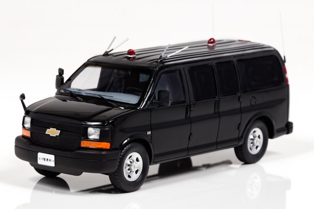 レイズ 1/43 シボレー エクスプレス L3500 2008 警察本部警備部要人警護車両 完成品ミニカー H7430817