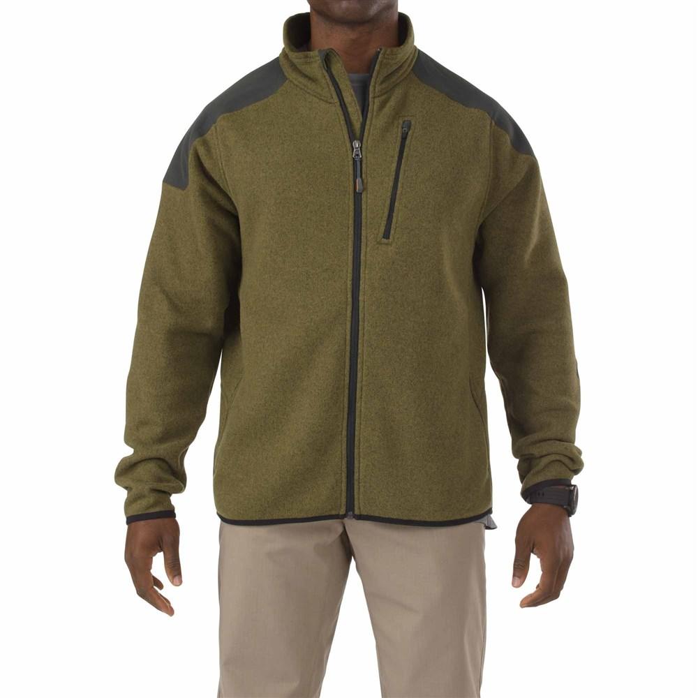 5.11タクティカル タクティカル フルジップ セーター カラー:フィールドグリーン サイズ:L ミリタリー 72407