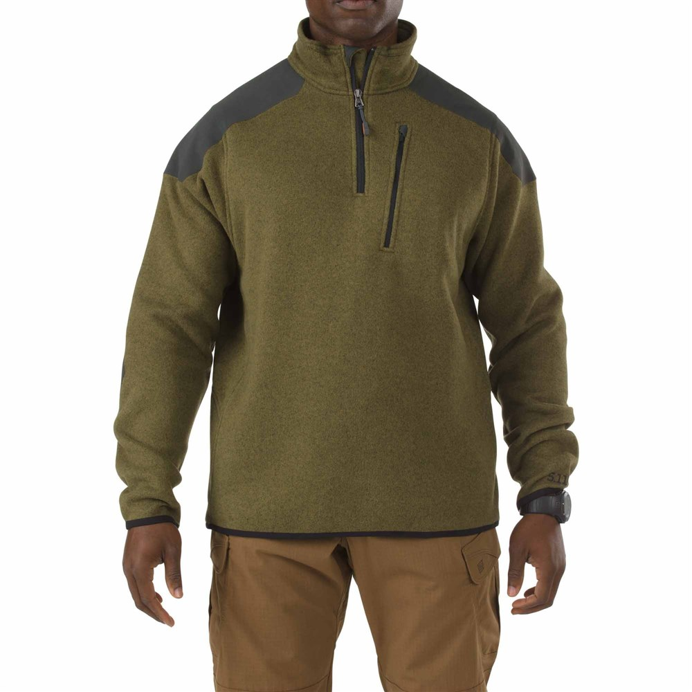 5.11タクティカル タクティカル クオーター ジップ セーター カラー:フィールドグリーン サイズ:XXL ミリタリー 72405