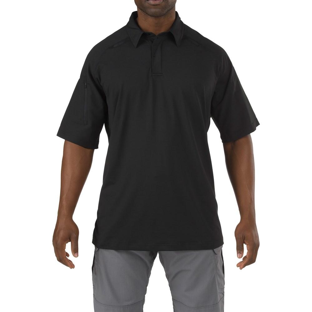 5.11タクティカル ラピッド パフォーマンス ショート スリーブ ポロシャツ カラー:ブラック サイズ:S ミリタリー 41018