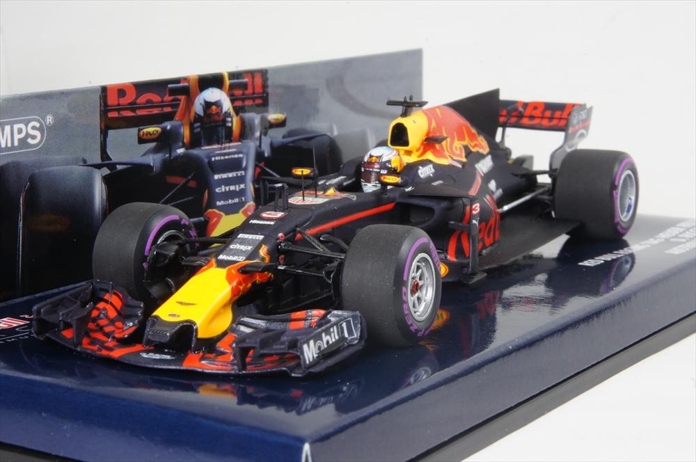 ミニチャンプス 1/43 レッド ブル レーシング タグ・ホイヤー RB13 2017 F1 D.リカルド 完成品ミニカー 410170003