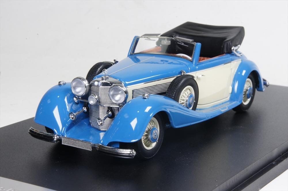 ネオ 1/43 メルセデス 540K タイプA コンバーチブル 1936 ブルー 完成品ミニカー NEO46166