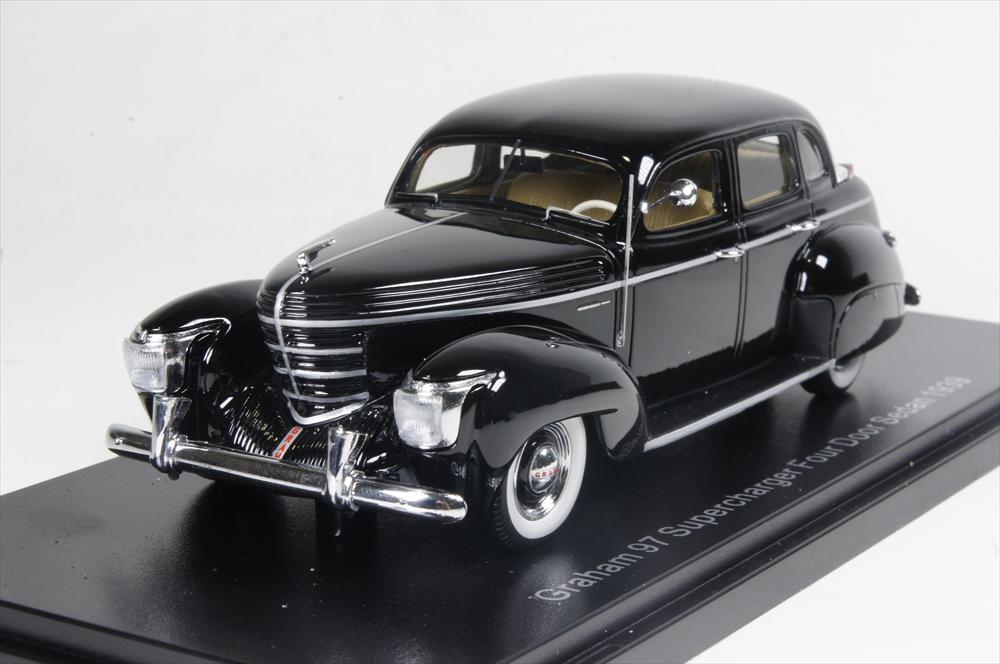 ネオ 1/43 グラハム 97 スーパーチャージャー 4ドア ツーリングセダン 1936 ブラック 完成品ミニカー NEO46565