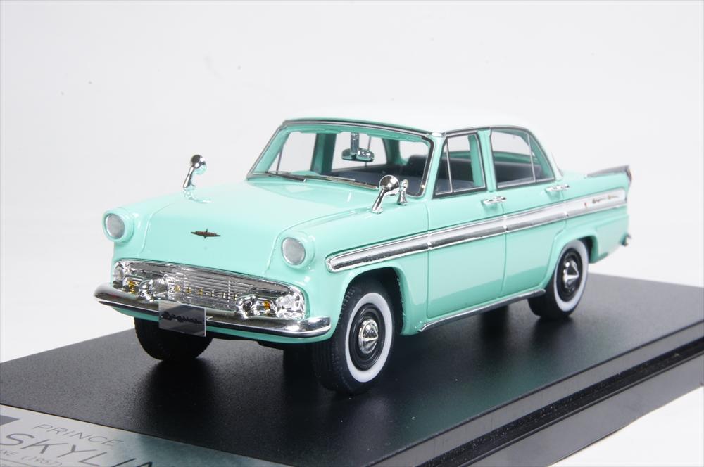 ハイストーリー 1/43 プリンス スカイライン デラックス 1957 グリーン 完成品ミニカー HS184GR