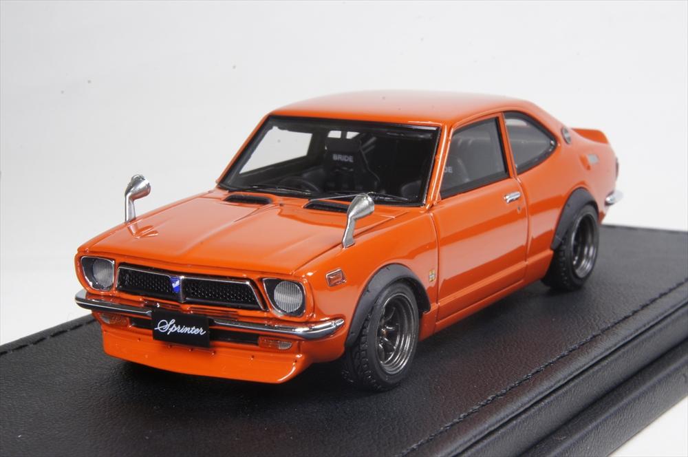 イグニッションモデル 1/43 トヨタ スプリンター トレノ (TE27)オレンジ 完成品ミニカー IG0736