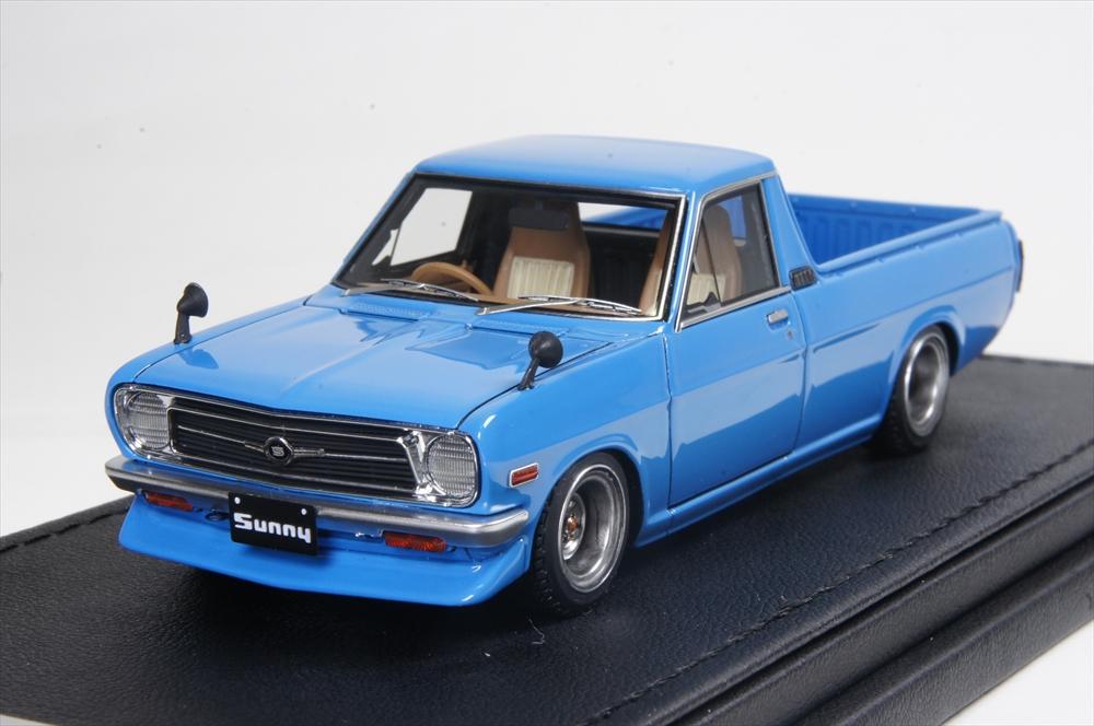 イグニッションモデル 1/43 ニッサン サニートラック ロング (B121) ブルー 完成品ミニカー IG1114