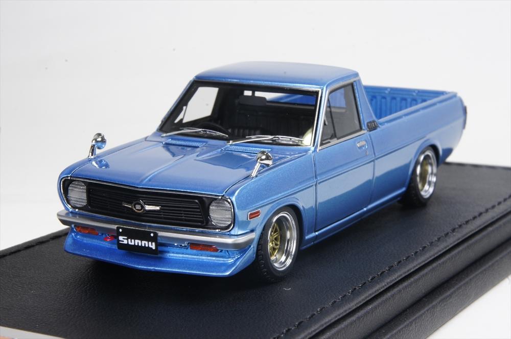 イグニッションモデル 1/43 ニッサン サニートラック ロング (B121) メタリック ブルー 完成品ミニカー IG1121