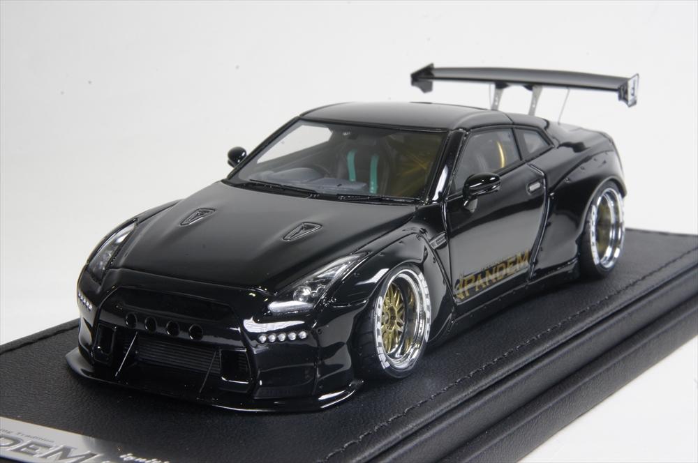 イグニッションモデル 1/43 PANDEM R35 GT-R ブラック 完成品ミニカー IG1157