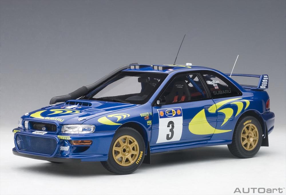 オートアート1/18 スバル インプレッサ WRC No.3 1997 WRC サファリラリーウイナー C.マクレー/N,グリスト 完成品ミニカー 89792
