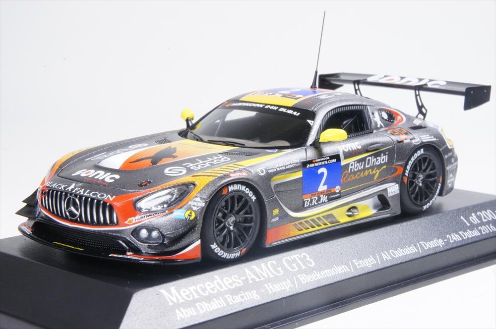 ミニチャンプス1/43 メルセデスベンツ AMG GT3 オブシディアンブラックパールファルコン No.2 2016 アブダビレーシング 完成品ミニカー 437163002