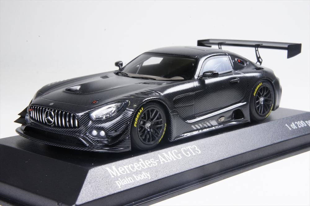 ミニチャンプス1/43 メルセデスベンツ AMG GT3 プレーンボディ カスタマー 2016 ブラック 完成品ミニカー 437163999