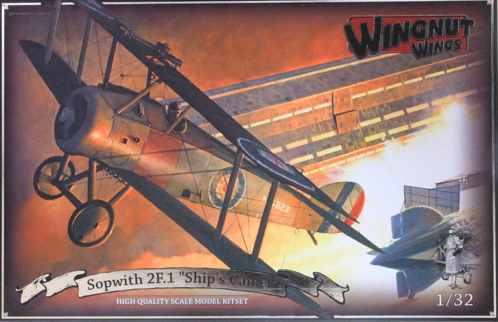 ウィングナットウィングス 1/32 ソッピース 2F.1 キャメル 「艦載機」 スケールプラモデル WNG32076