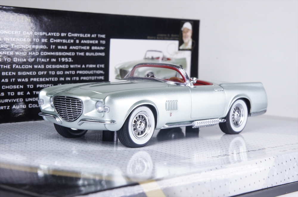 ミニチャンプス1/43 クライスラー ギア ファルコン 1955 ライトグリーンメタリック 完成品ミニカー 437143030