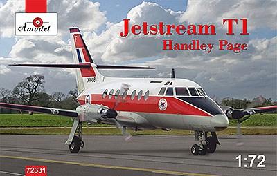 Aモデル 1/72 ハンドレペイジ・ジェットストリームT1双発ビジネス機 スケールプラモデル AM72331