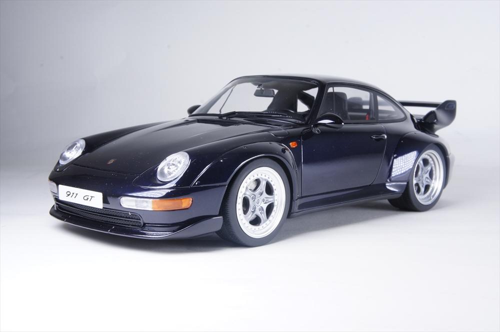 GTスピリット1/18 ポルシェ 911(993) GT ダークブルー 完成品ミニカー GTS750