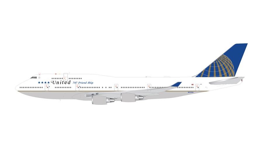 ジェミニジェット 1/400 ユナイテッド航空 (747 Friendship) 747-400 N121UA 完成品 艦船・飛行機 GJ701741