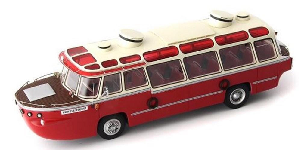 オートカルト1/43 メルセデスベンツ OP312 ヴァン・ローイエン 1958 オランダ レッド/ホワイト 完成品ミニカー 10002