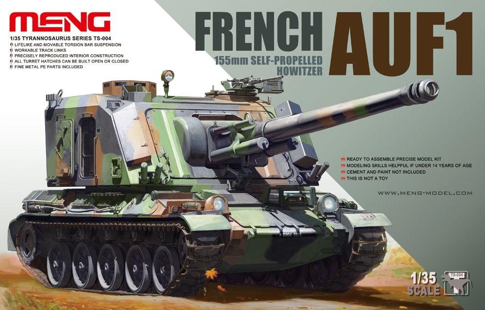 土日出荷可能 プラモデル MENG Model 新色追加 モンモデル TS-004 格安 価格でご提供いたします 155mm自走榴弾砲 フランス軍 35 1 AUF