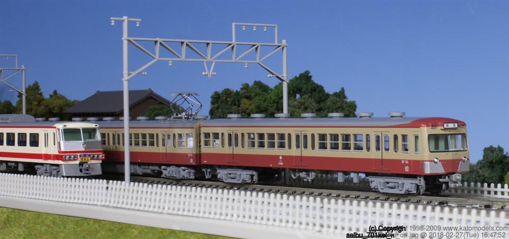 KATO Nゲージ 西武鉄道701系(非冷房) 基本(4両) 鉄道模型 10-1356