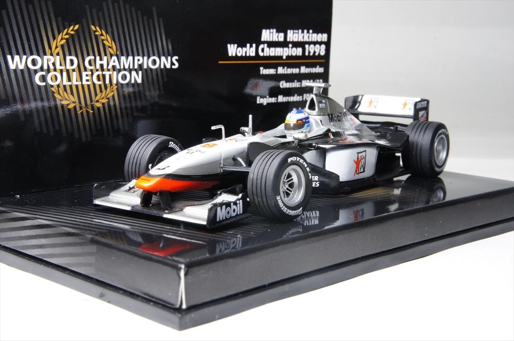 ミニチャンプス1/43 マクラーレン メルセデス MP4/13 No.8 1998 F1 ワールドチャンピオン M.ハミルトン 完成品ミニカー 436980008