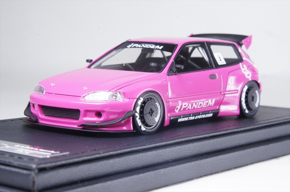 イグニッションモデル1/43 パンデム シビック (EG6) ピンク 完成品ミニカー IG1174