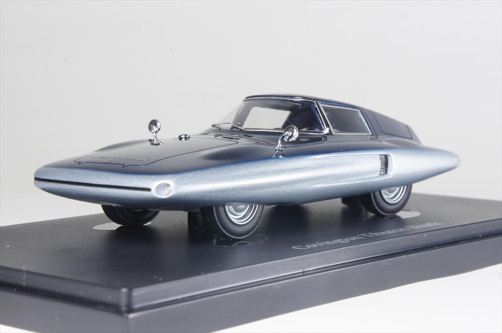 オートカルト1/43 コビントン ティブロン シャーク 1961 アメリカ シルバー/ブルー 完成品ミニカー 04016
