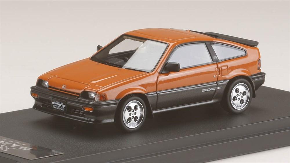MARK43 1/43 ホンダ バラード スポーツ CR-X Si (AS) オレンジ (カスタムカラーVer) 完成品ミニカー PM4384P