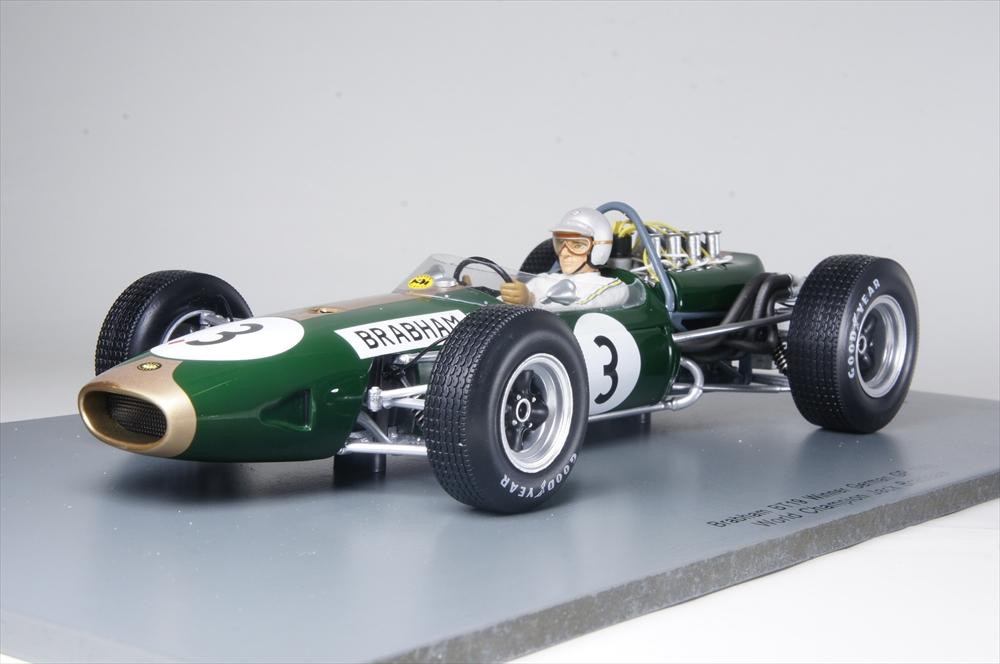 スパーク1/18 ブラバム BT19 No.3 1966 F1 ワールドチャンピオン 完成品ミニカー 18S223