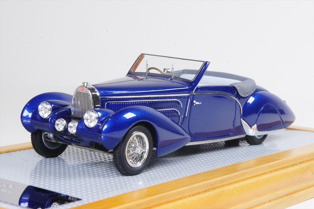 イラリオ1/43 ブガッティT57C アラヴィ ガングロフ 1938 オリジナル 完成品ミニカー IL43109
