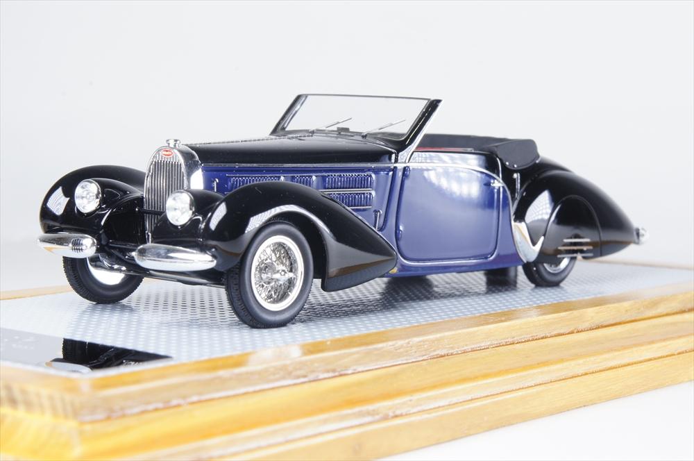 イラリオ1/43 ブガッティT57C アラビス カブリオレ ガングロフ 1939 完成品ミニカー IL43113