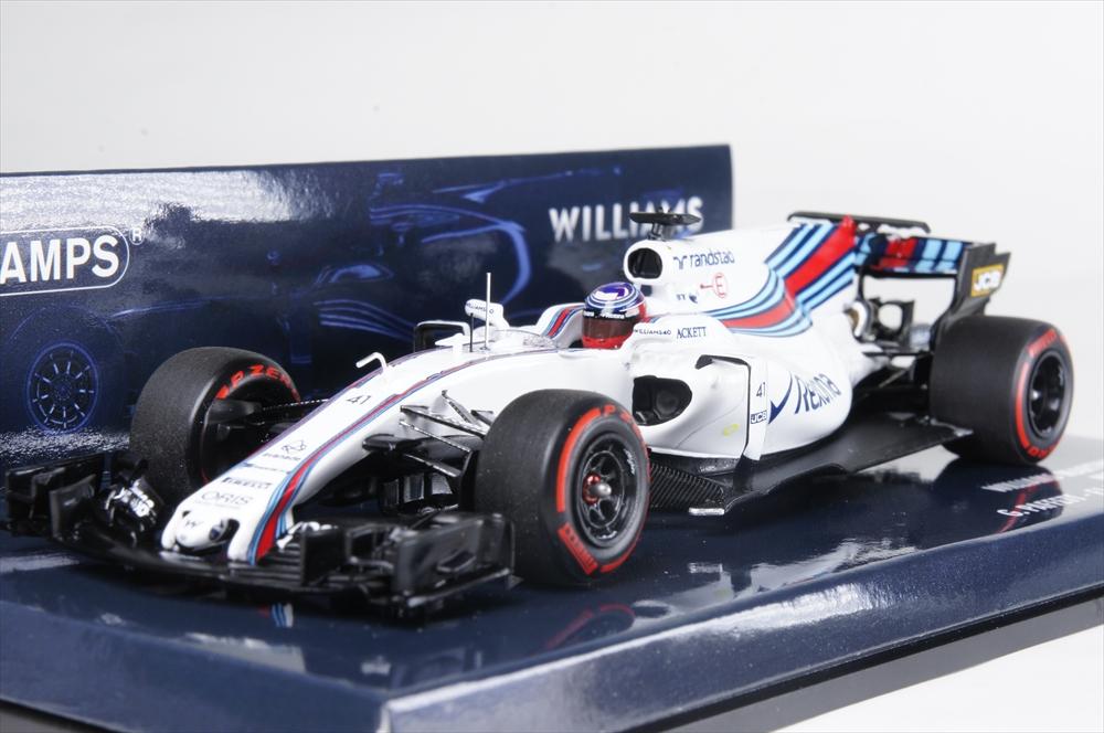ミニチャンプス1/43 ウィリアムズ マルティニレーシング メルセデス FW40 2017 F1 バーレーンテスト G.パフェット 完成品ミニカー 417170041